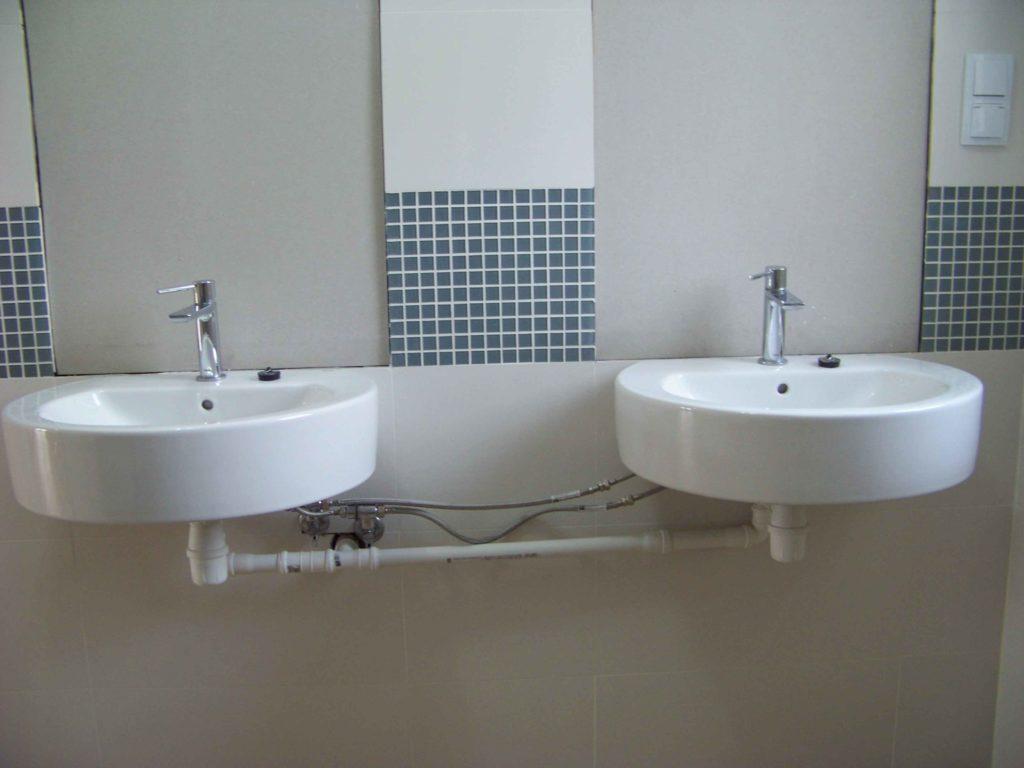 podwójne umywalki