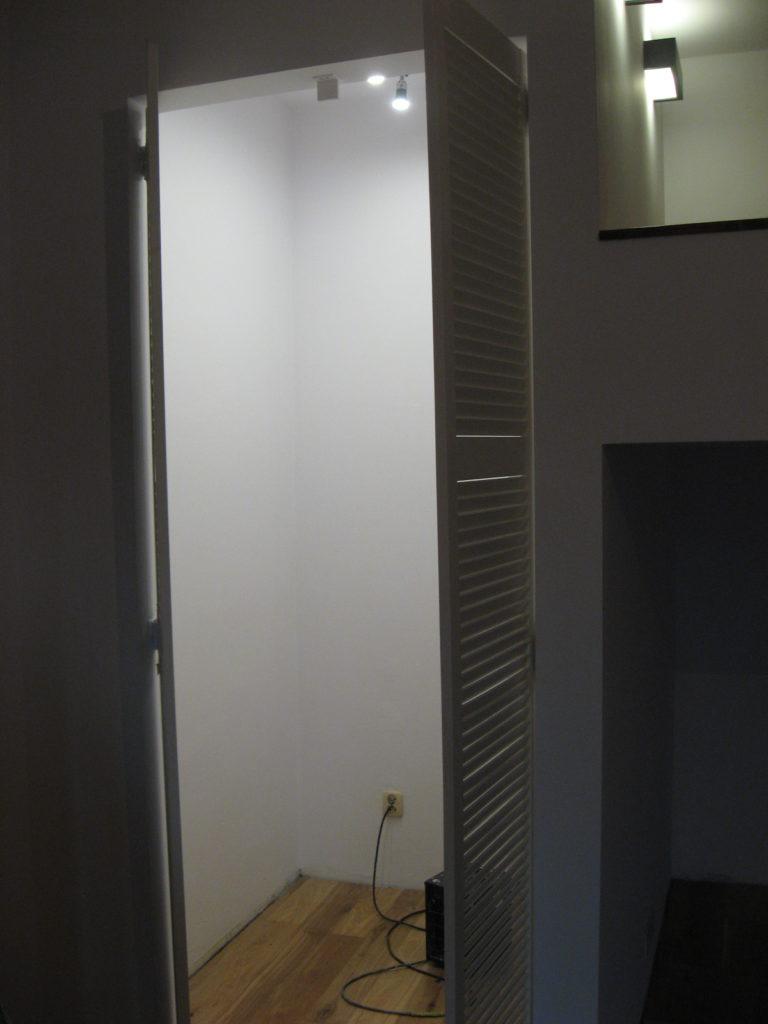 garderoba obok antresoli