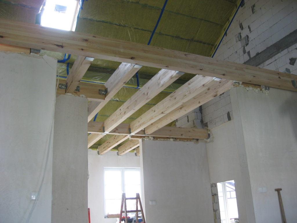 Strop drewniany i poddasze