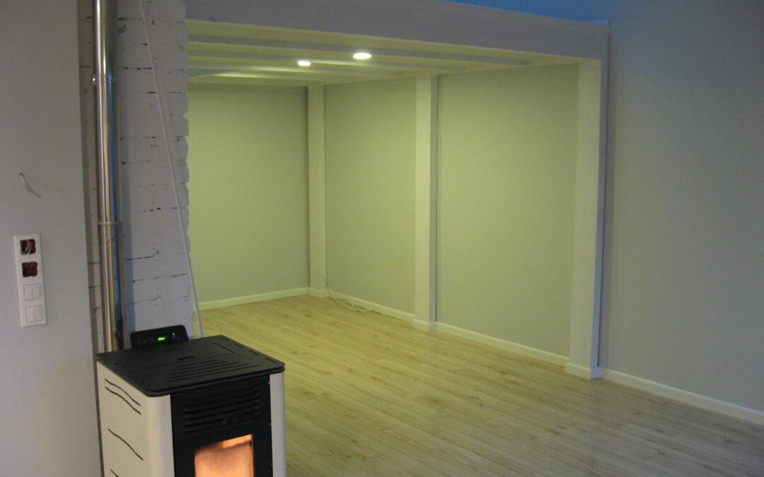 Antresola  mieszkalna biała