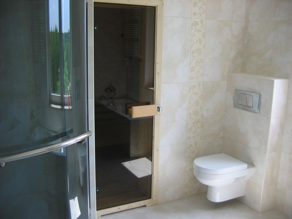 Łazienka połączona z sauną