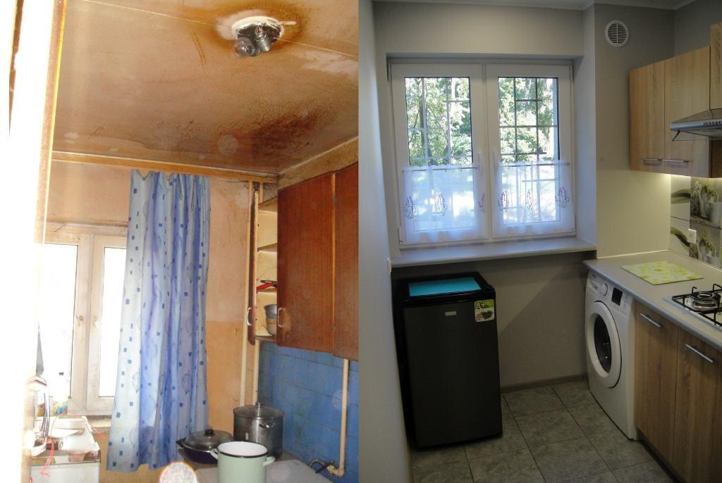 kuchnia remont przed i po