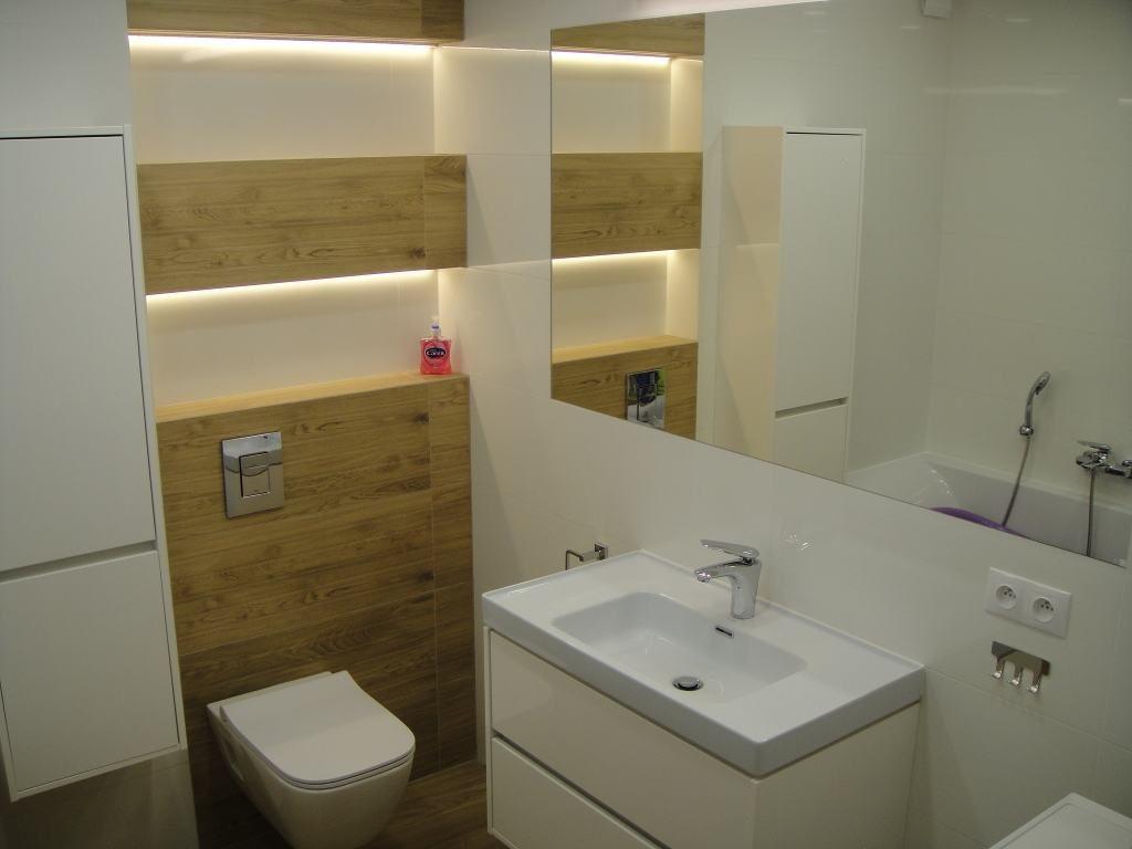 glazura drewnopodobna w łazience