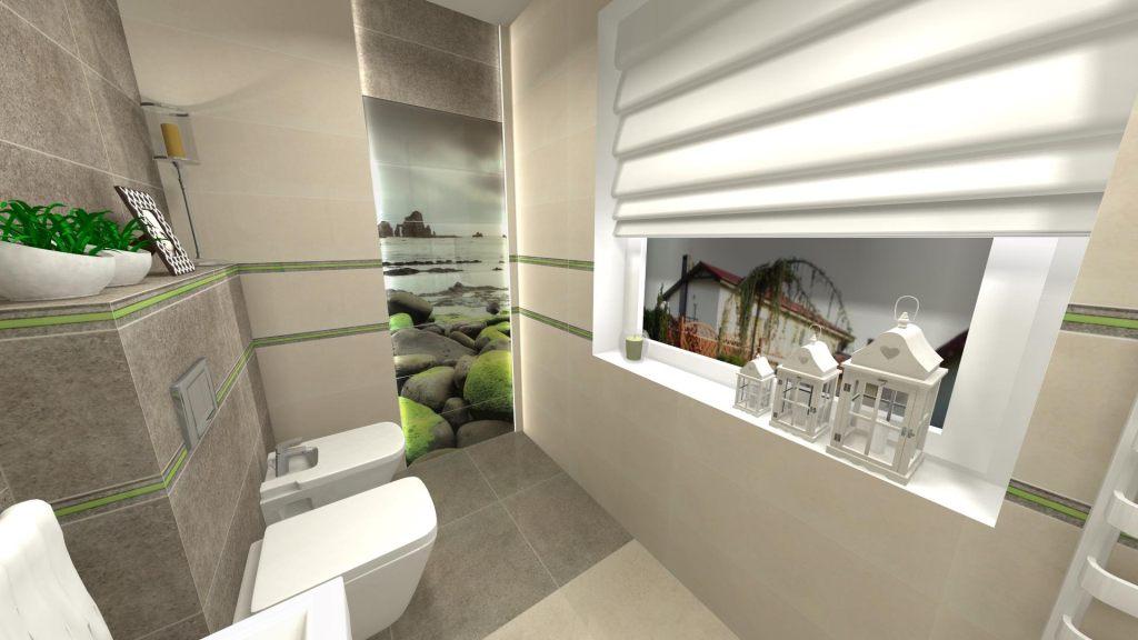 Nowoczesna łazienka Ze ścianka Dekoracyjną Usługi Remontowe